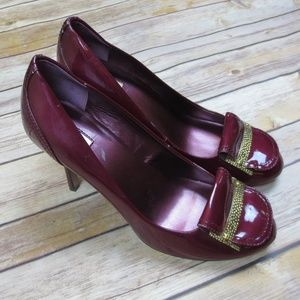 Tahari Pierce Burgundy Patent Leather Heels
